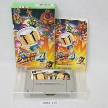 Nintendo Snes Super Bomberman 4 con Scatola Funzionante Sfc Giochi 2002-115 - $24.24