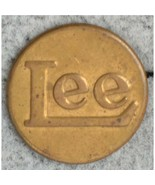 Early Lee Jeans Brass Vintage Advertising Clothing Button - $123.75
