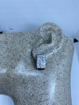 Vintage White Sapphire Earrings 925 Sterling Silver Deco - $143.55