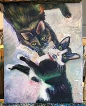 "Custom 8""x10"" Original Oil Painting on Canvas Art Pet Portrait Dog Cat P... - $280.15"