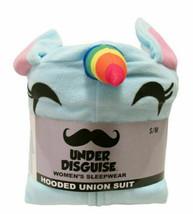 Women's Under Disguise Blue UNICORN Hooded Soft Pajamas Sleepwear PJ's S... - $20.00