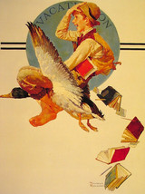 norman rockwell Art oil painting printed on canvas home decor  - $14.99