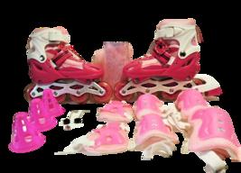 Star Sport Roller Blades, Pink, Light Up - Size M (2-5) (35-38)