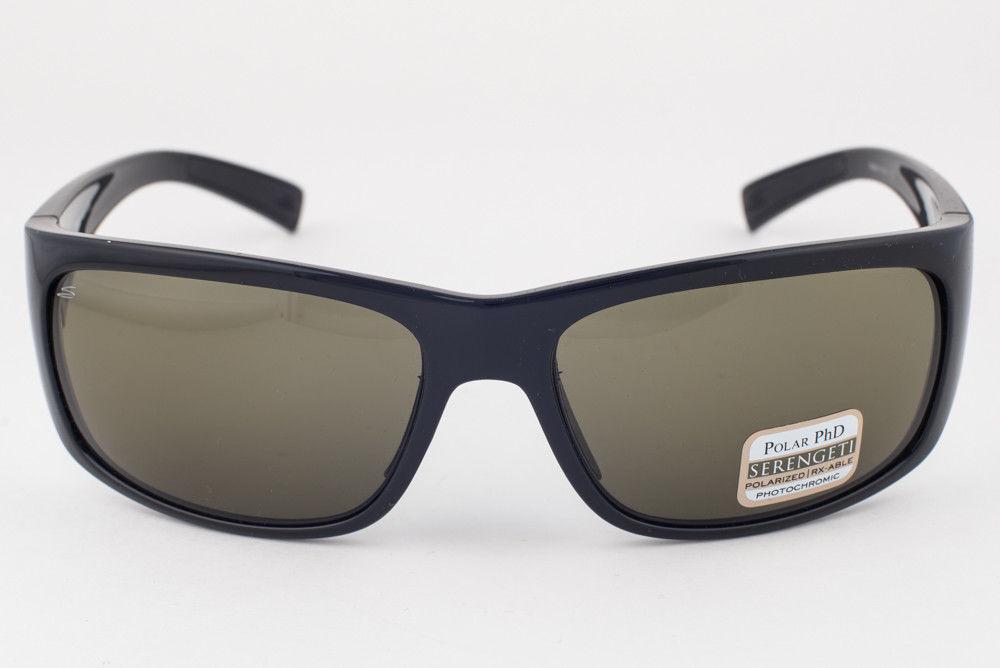 Serengeti Orvieto Shiny Black   555nm Polarized Green Sunglasses 7621 99b6a84ab3b