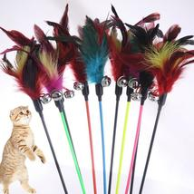 1PCS Hot Sale Cat Toys Make A Cat Stick Feather With Small Bell Natural ... - $1.89