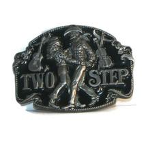 TWO STEP Belt Buckle 1994 Siskiyou Buckle Co. #N-7 dancing cowboy and co... - $13.19