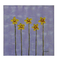 Five Stems Canvas Wall Art - $70.00