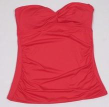 Calvin Klein, Women's, Swimsuit, Solid Bandeau Tankini Top, Watermelon,S... - $43.56
