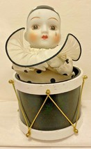 "Music Box Clown In A Drum Marti Gras  ""Bring in the Clowns"" Moves 7 1/4""... - $14.80"