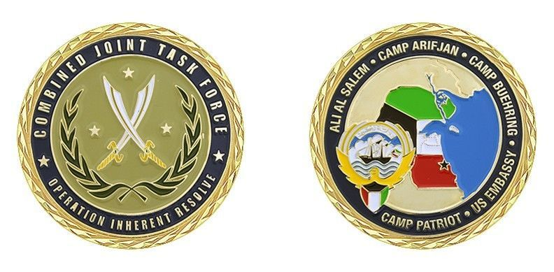 ARIFJAN BUEHRING KUWAIT TASK FORCE OPERATION INHERENT RESOLVE CHALLENGE COIN