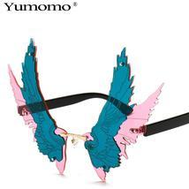 Fashion Oversized personality Wing Shape Sunglasses Women Vintage Rimless Clear  image 11