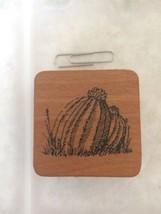 Vintage Comotion Barrel Cactus Rubber Stamp Wood Mounted Southwest Dessert - $11.30