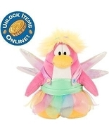 Club Penguin Rainbow Fairy Costume 6-1/2 Inch Scale Plush Toy with Onlin... - £14.56 GBP