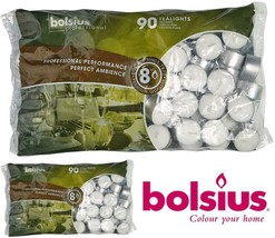 BOLSIUS Tea Lights Candles - Pack of 90 White Unscented Candle Lights wi... - $26.26