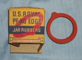 Vintage Mid 1900s Box of 8 US Royal Pe-Ko Edge Jar Rubbers US Rubber Com... - $8.50