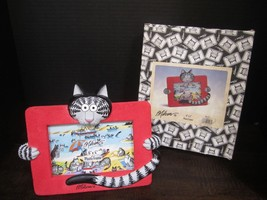 "B Kliban Cat 3D Photo frame 6"" x 4"" red gray black with original box rar... - $32.23"