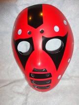 RED AND BLACK NINJA HOCKEY HALLOWEEN MASK PVC - $7.87