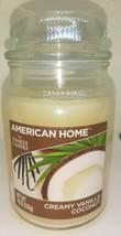 American Home By Yankee Candle 19 Oz Creamy Vanilla Coconut Glass Jar Ca... - $24.70