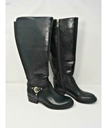 Tommy Hilfiger Boots, Size 7.5 Wide Calve, Black, Gold Accents, Stretch ... - $55.71