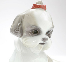 Nao by Lladro 02001654 PAMPERED SHIH-TZU Porcelain Figurine Glased New  - $138.60