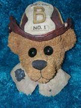 1998 Boyds Bears & Friends Firemen Elliot the Hero Wall Plaque #654281 w... - $4.00