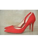 NEW Jessica Simpson Livvy Womens Sz 7.5 M Red Microfiber D'Orsay Heels - $27.71