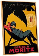 "Pingo World 0616QPTI76Y ""Beer Moritz Vintage"" Advertising Poster Gallery Wrapped - $47.47"