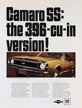 1967 Camaro 396 CUI ad   24 x 36 INCH   sports car - $18.99