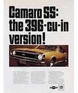 1967 Camaro 396 CUI ad | 24 x 36 INCH | sports car - $18.99