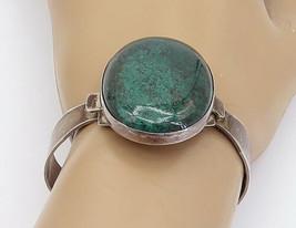 ISRAEL 925 Sterling Silver - Vintage Eilat Stone Hook Bangle Bracelet - ... - $134.67