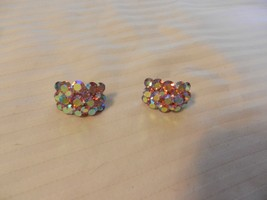 Vintage Women's Rhinestone Clip On Earrings with Pink - $22.28