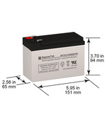 12V 9Amph F2 Replacement Battery For Eaton Powerware PW9125-700VA by Sig... - $19.79