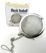 "Stainless Steel Mesh Spice Tea Infuser 2"" Ball Strainer Locking Reusable - $8.90"