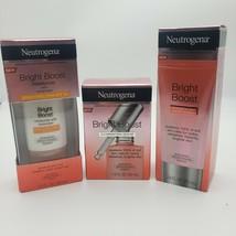 Neutrogena Bright Boost 1 Serum 1 Polish & 1 Moisturizer Spf 30 Full Treatment - $25.17