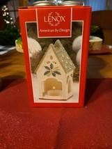 Lenox Winter Greetings Tealight Lamp Birdhouse Votive Candle Luminary La... - $18.00
