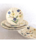 Blue Ridge Dishes 3 Plates & Bowl Southern Galleries Inc Handpainted Und... - $5.00