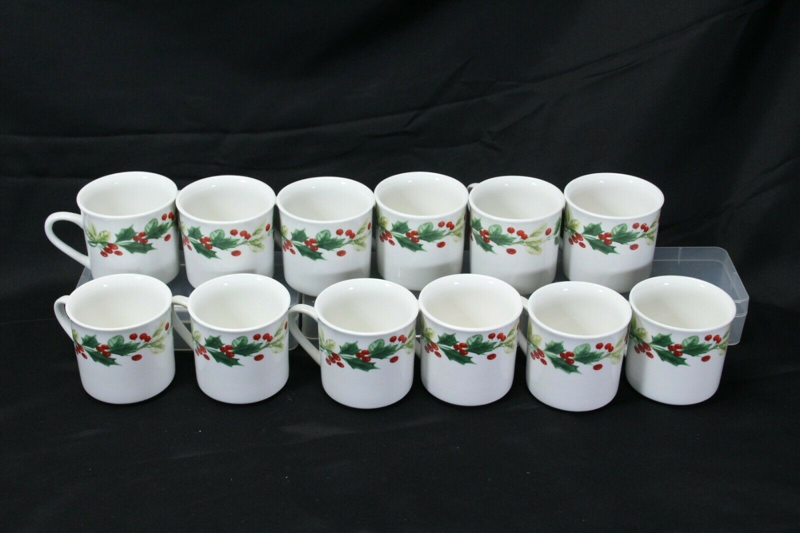 Target Home Xmas Charm Holly Berry Cups Lot of 12
