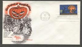 Oct 10 74 Legend of Sleepy Hollow Ichabod Dancing w Katrina #1548 FDC Fleetwood  - $5.49