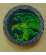 """Eagle in a 1 1/2"""" X 2/8"""" Round Gold Thing - $12.86"""
