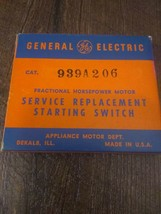 GE General Electric Motor Service Replacement Starting Switch 939A206 - $88.06