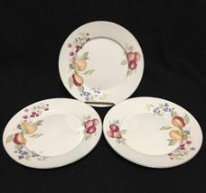 "Newcor Garden Fresh #4029 Set of 3 Salad Plates 7-5/8"" Various Fruit Sto... - $24.74"