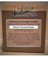 Decaf. Coconut Cream flavored Dessert Coffee 10 Medium Bold Roasted K-Cups - $10.41