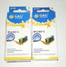 G&G - NP-C-0221 Y -- Ink Cartridges - LOT of 2 - for Canon Pixma - NEW - DD-6160 - $10.69