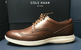 Cole Haan Men's Original Grand Shortwing Oxford Shoe - Woodbury/Ivory Sz 12 - $84.99