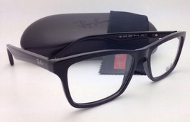 New RAY-BAN Eyeglasses RB 5279 2000 55-18 Black Rectangular Frames w/Demo Lenses