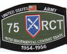 "4.5"" Army 75TH Regimental Combat Mos 954-1956 Embroidered Patch - $17.09"