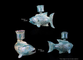 """Candle Holder Fish Sculpture 5"""" Graceful Fish Candlestick Holder >>> One... - $69.00"""