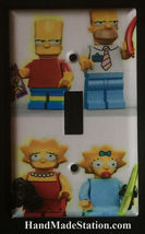 Lego Simpsons Family characters Light Switch Outlet wall Cover Plate Home decor image 1
