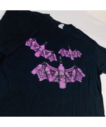 UV Vodka Celebrate Halloween Black T Shirt Purple Bottle Bats Sz XL - $19.99