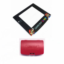 New BERRY Game Boy Color Battery Cover + Mario & Luigi Screen GBC - $9.35